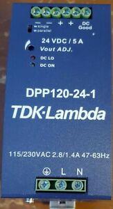 TDK-Lambda DPP120-24-1 24VDC 120W DIN Rail Mount Power Supply
