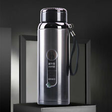 1L Thermos Glass Vacuum Flask Hot Cold Drinks Insulated Portable Mug Cup Flask