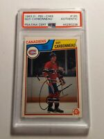 1983-84 O-PEE-CHEE GUY CARBONNEAU Rookie Card PSA/DNA authenticated Auto - MINT