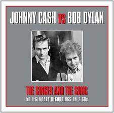 Johnny Cash vs Bob Dylan The Singer & The Song 2-CD NEW SEALED I Walk The Line+