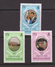 1981 Royal Wedding Charles & Diana MNH Stamp Set Turks & Caicos SG 753-755