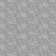 Fabric Cobbelstone Bricks Gray on Cotton by the 1/4 yard