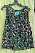 FLAX Tropics Floral Jeanne Engelhart 3 Pc Skirt Blouse Tank Set S M Lagenlook