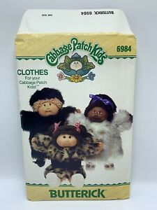 Cabbage Patch Sewing Pattern uncut 6984 coats / hats w/ transfer