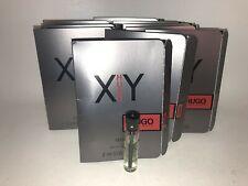 Hugo Boss XY Men Cologne EDT Card Sample Travel Vials Set Lot x 10 NEW