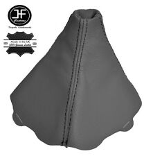 GREY LEATHER FITS AUDI A4 B6 2000-2004 BLACK STITCHING GEAR GAITER COVER