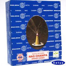 NAG CHAMPA von Satya Sai Baba BNG  BIG PACK 12x 12  Räucher-KEGEL
