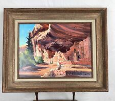 The Spruce Tree House Original Oil Painting mesa verde CO Richard Ellis Wagner