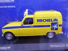 Renault 4F6 FOURGONETTE Michelin van 4 Colección officielle Diecast + Man 1/43