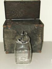 Antique 19th C Victorian Embalming Mortician Undertaker Blood Bottle Tube w/Case