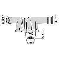TRIDON Std Thermostat For BMW Z4 E85 - 2.5i, 2.5si 07/03-04/09 2.5L N52,M54