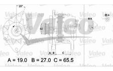 VALEO Alternador para CITROEN JUMPY JUMPER EVASION C5 PEUGEOT 206 205 406 437220