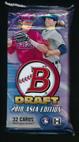 2018 BOWMAN DRAFT CHROME JUMBO ASIA EDITION EXCLUSIVE HOBBY PACK (1) BRAND NEW