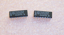 QTY (25) 74HC132N PHILIPS  14 PIN DIP PACKAGE NAND GATE NOS 1 TUBE