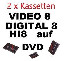 2 x Video 8, Hi8, MiniDV, Digital 8 auf DVD digitalisieren Überspielen Kopieren