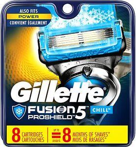 Gillette Fusion ProShield Chill Men's Razor Blade Refills, 8 Refills