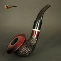 HAND MADE WOODEN TOBACCO SMOKING PIPE no. 66  Calabash  Rustic Red  Pear +Filter