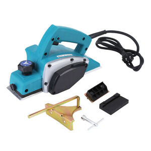 Electric Wood Planer Wood Plane Handheld Woodworking Power 800W 16000RPM