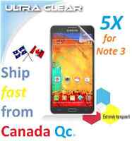 5X HD clear screen protector Samsung Galaxy Note 3 Note3 LCD film Transparent