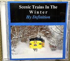 Scenic Trains In The Winter  (HD version)