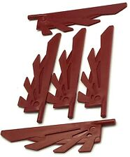 Lego 5 New Dark Red Wing 9L Stylized Feathers Pieces