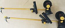 PAIR (2) Seahorse Downriggers with  Swivel Bases and dual rod holders 4 ft booms