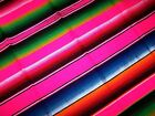 Extra Large New Bright Pink Genuine Mexican Sarape Hot Rod Blanket Rug Picnic