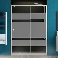 Porta doccia nicchia scorrevole 100 cm cristallo serigrafato e profili alluminio