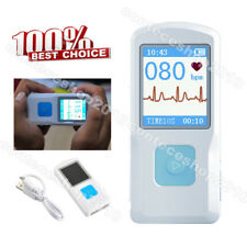 CONTEC PM10 Portable ECG Monitor Bluetooth Heart Beat Machine,Finger Touch Check