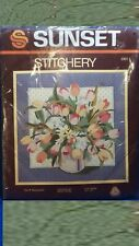 Sunset Stitchery Tulip Bouquet by Nancy Rossi Embroidery Kit