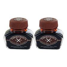Thornton's Luxury Goods Fountain Pen Ink Bottle, 30ml, Pack of 2 - Brown