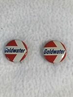 Vintage GOLDWATER for President Metal Political/Election Button Pin 1""