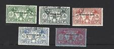 NEW HEBRIDES 1925, 5 DIFFT WEAPONS/IDOL STAMPS O/PTD 'POSTAGE DUE', CAT £34, VGU