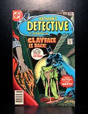 COMICS: DC: Detective Comics #478 (1978), 1st full Clayface III app - RARE