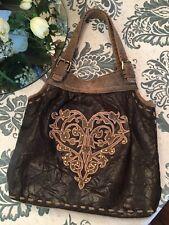 OLD GRINGO Western Brown Leather Rare Tote Handbag Purse
