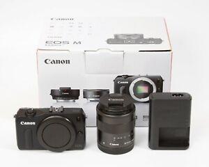 Canon EOS M Mirrorless Digital Camera 18.0MP with 18-55 Lens - Black #1