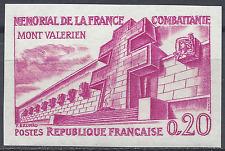 MONT VALÉRIEN N°1335 ESSAI COULEUR NON DENTELÉ ROSE PROOF 1962 NEUF ** MNH
