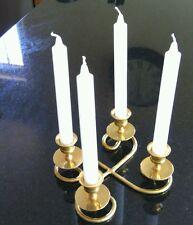 Vintage Candelabra Sconce Antique 4 Candle Holder Table Centerpiece Solid Brass