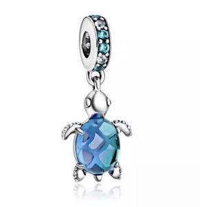 NEW Turquoise Turtle Silver European  Charm Bracelet Pendant Bead