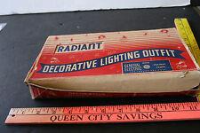 Vintage Radiant Lighting Outfit Christmas Lights & Box- Works Ge Indoor # 99
