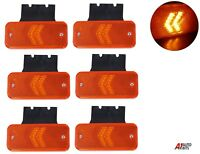6x 12V LED Side Arrow Marker Lights W/ Brackets Lorry Caravan Tipper Camper Bus
