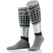 Loferl 2-teilig Hirsch - Raute grau/grün Wadenwärmer Trachten Socken Strümpfe