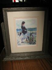 Vintage Art Deco Tilting Wooden Picture Frame with photo