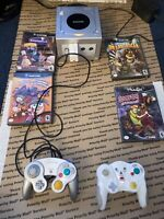 Nintendo DOL-101 Silver GameCube Console W/ Cords - Tested/Working With 5 Games