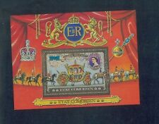 COMOR ISLANDS Gold Souvenir Sheet Set 25th Anniversary of 1953 Coronation - FB56