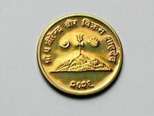 Nepal 2029(1972) 10 PAISA (Proof) Brass Coin UNC Lustre
