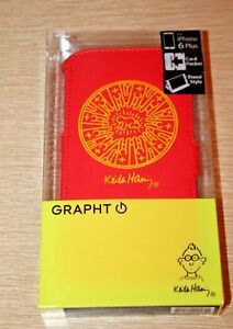 Keith Haring GRAPHT Flip Folio Cover Case Apple iPhone 6 Plus Radiant Baby Red