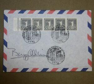 Original buzz aldrin autogramm autograph 1970 envelope Apollo Monument