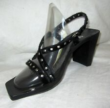 $200 Studded Holster Sandals Heels 3-1/2' HEELS 38 8 MADE IN ITALY by Vic Matie