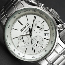SEIKO Japan Movement Chronograph Multi-Function Analog Quartz Wristwatch SSB161